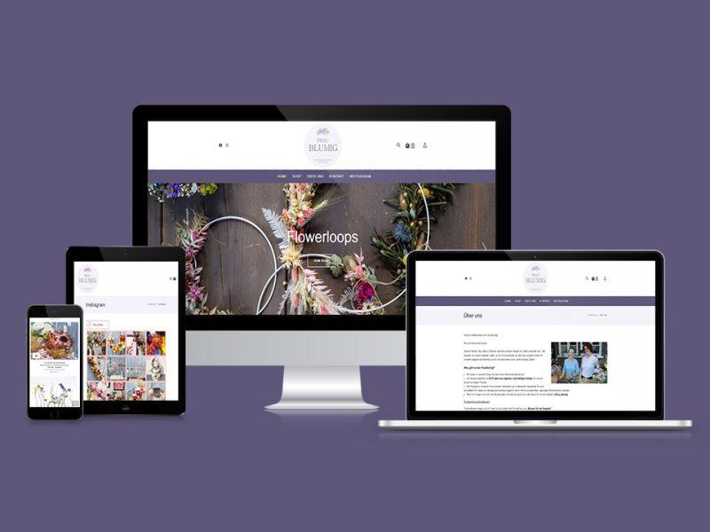 FrauBlumig Webdesign und Webshop