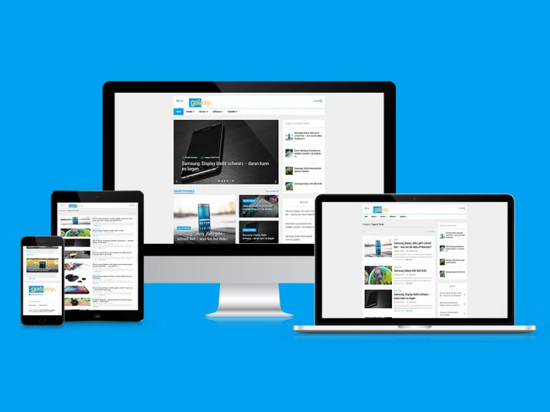 Responsive-Webdesign-Galaxy-Blog