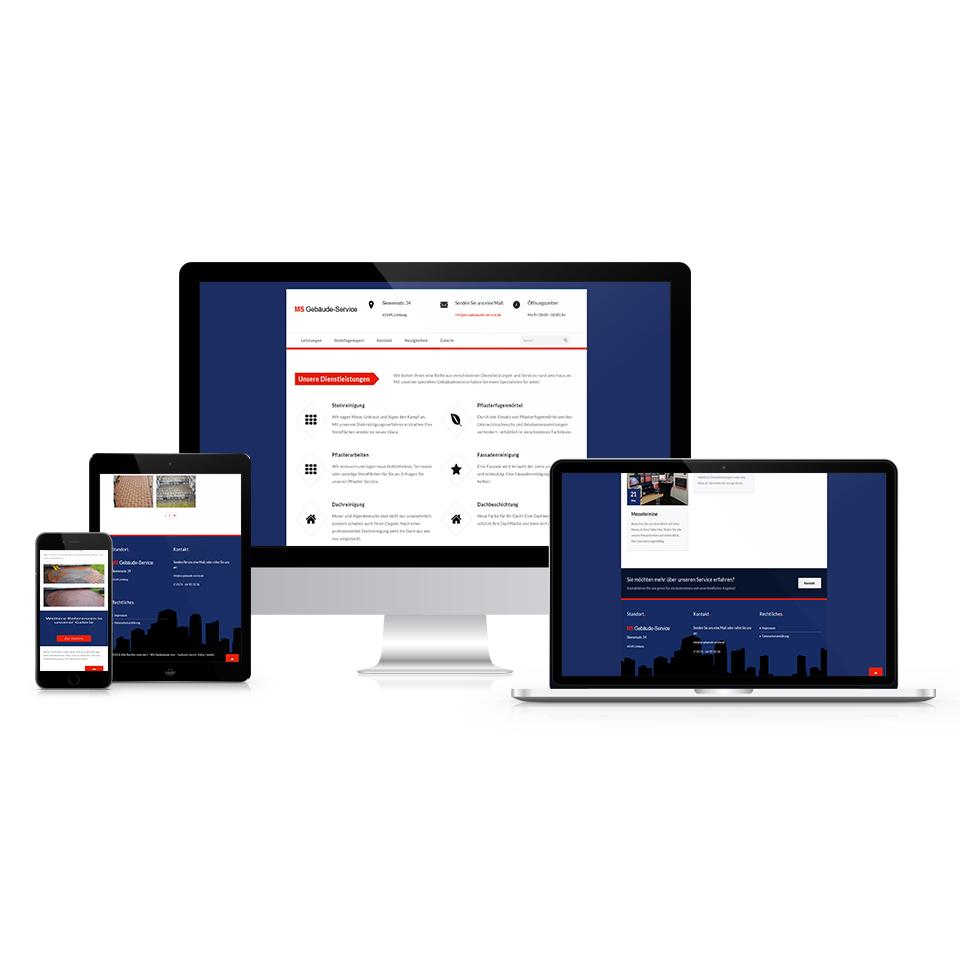 Responsive-Webdesign-MS-Gebäude-Service