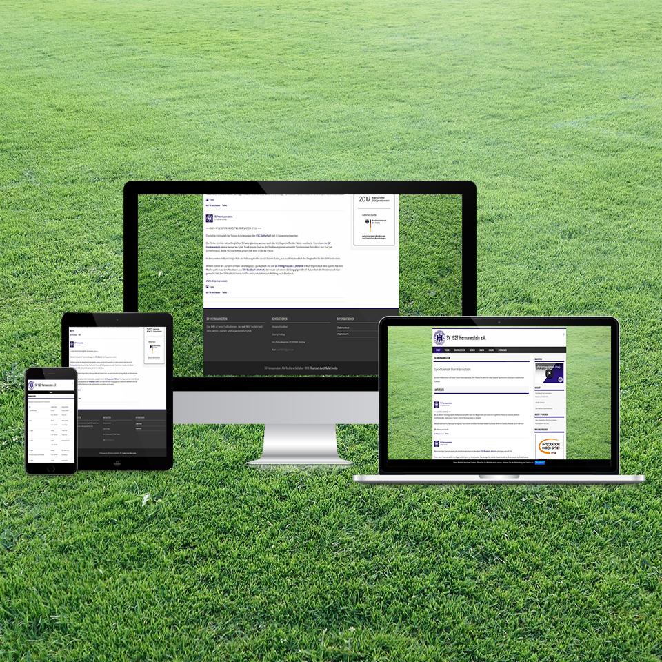 Responsive-Webdesign-SV-Hermannstein-Fußball