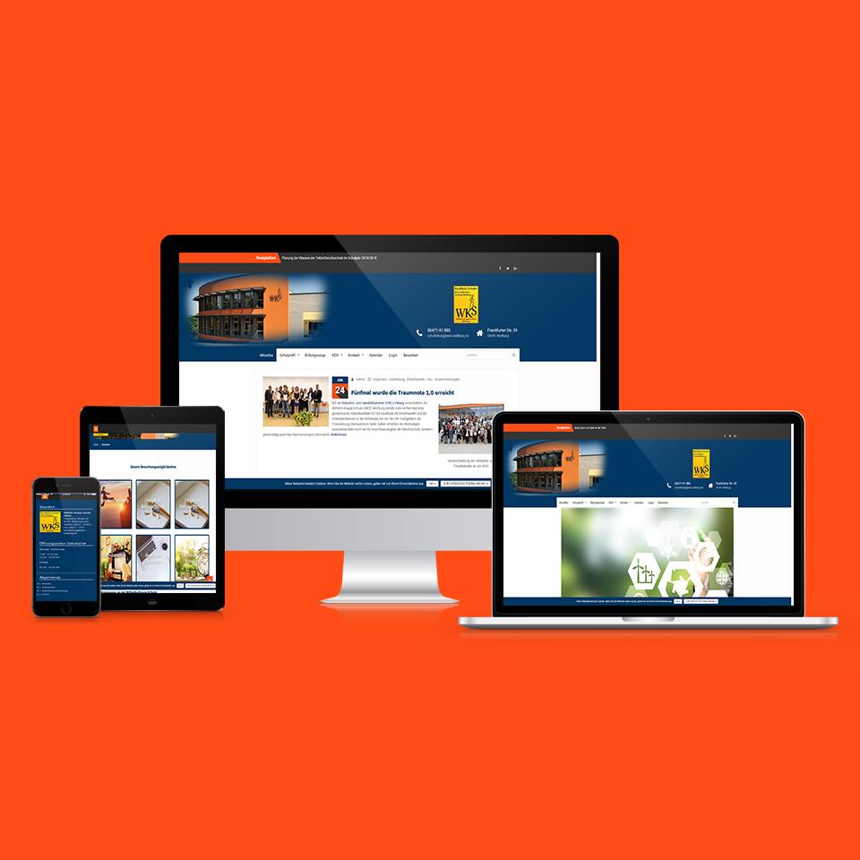 Responsive-Webdesign-Wilhelm-Knapp-Schule