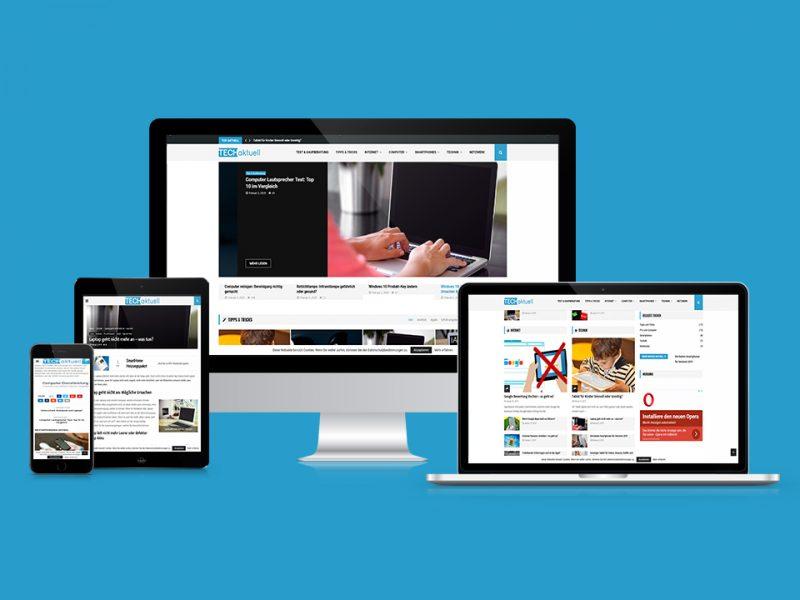 Webseite-eines-Technikblogs-von-Techaktuell