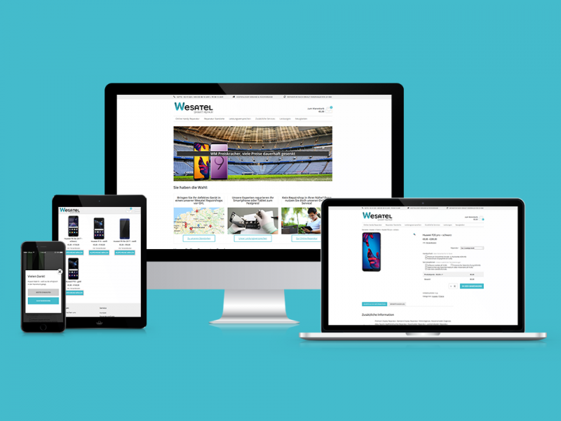 Wesatel-Shop-Webdesign-Webseite