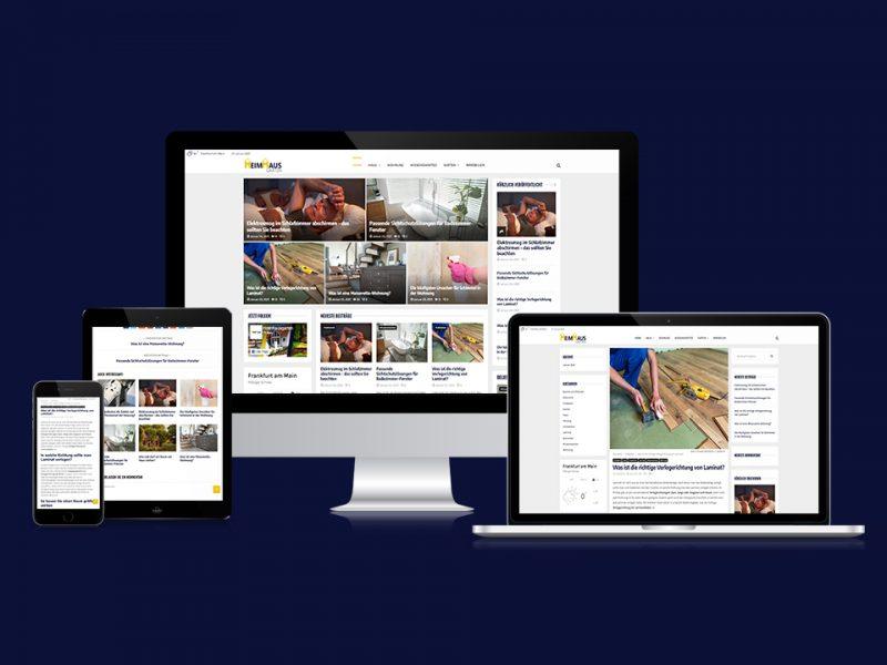 Responsive Webdesign HeimHausGarten